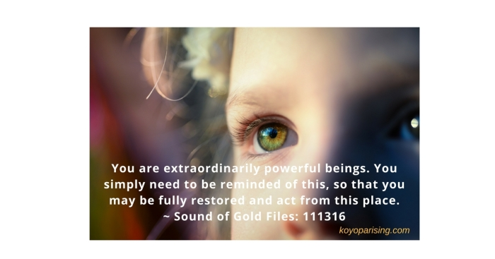 you are extraordinarily powerful beings.meme